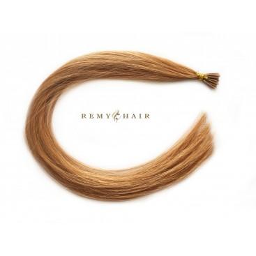 Pasma euro 27-miodowy blond - 50cm, 0,80g, pod ringi - 20szt