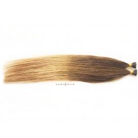 Pasma euro ombre 6/18-jasny braz/średni blond - 50cm, 0,80g, pod ringi - 20szt