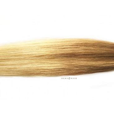 Pasma euro 18/60-średni blond/bardzo jasny blond- 40cm, 0,70g, pod nano ringi - 20szt