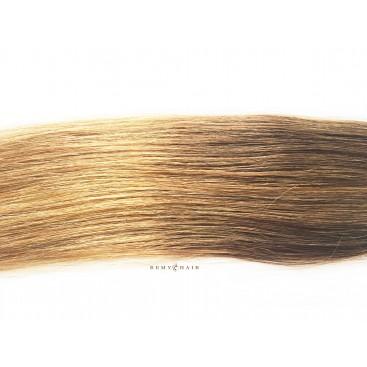 Tape in- OMBRE 6/18 jasny brąz/średni blond - 40cm, 50gram