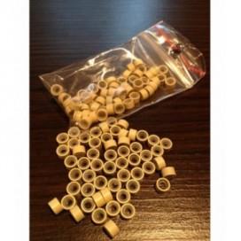 Ringi z silikonem - rozmair M - jasny blond - 100 sztuk
