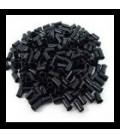 Tulejki z rantem - rozmiar M - czarne - 100 sztuk