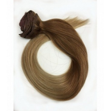 Clip-In Ombre 14/22 - karmelowy blond/beżowy blond - 50 cm, 85 gram