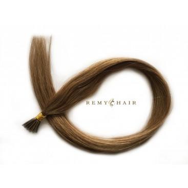 Pasma euro 10-ciemny blond - 60cm, 1g, pod ringi - 20szt
