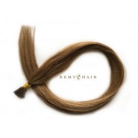 Pasma euro 14-karmelowy blond - 60cm, 1g, pod ringi - 20szt