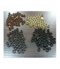 Nano ringi z silikonem - ciemny brąz - 100 sztuk