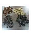 Nano ringi z silikonem - czarne - 100 sztuk