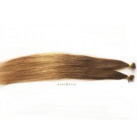Pasma euro ombre 6/18-jasny brąz/średni blond - 50cm, 0,80g, pod nano ringi - 20szt
