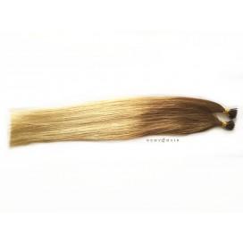 Pasma euro ombre 14/22-karmelowy blond/beżowy blond - 50cm, 0,80g, pod ringi - 20szt