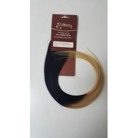 Pasma euro ombre 1/60-czarny/bardzo jasny blond - 50cm, 0,80g, pod nano ringi - 20szt