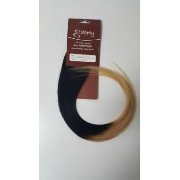 Pasma euro ombre 14/22-karmelowy blond/beżowy blond - 50cm, 0,80g, pod nano ringi - 20szt