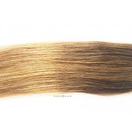 Pasma euro ombre 6/18-jasny brąz/średni blond - 40cm, 0,70g, pod nano ringi - 20szt