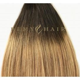 Clip-In Ombre 2/18 - ciemny brąz/średni blond - 35 cm, 70 gram