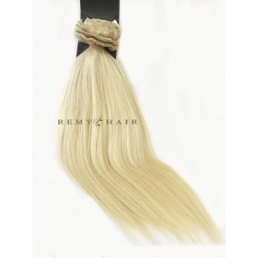 Clip-In - 60-bardzo jasny blond - 40 cm, 120 gram