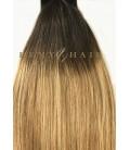 Clip-In Ombre 2/18 - ciemny brąz/średni blond - 45 cm, 70 gram