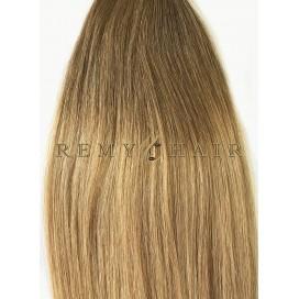 Clip-In Ombre 6/18 - jasny brąz/średni blond - 45 cm, 70 gram