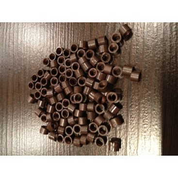 Ringi z gwintem - rozmair M - ciemny brąz - 100 sztuk