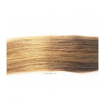 Pasma euro 6/18 - jasny brąz/średni blond - 50cm, 0,80g, keratyna pod zgrzewy - 20szt