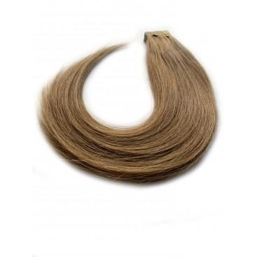 Tape in rosyjskie - 8-średni chłodny blond - 55 cm, 25gram