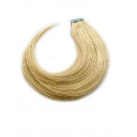 Tape in rosyjskie - 613 - bardzo jasny blond - 55 cm, 25gram