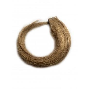 Tape in rosyjskie - 12-średni ciepły blond- 55 cm, 25g