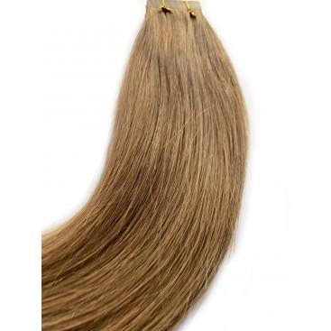 Clip-in rosyjskie - 8-średni chłodny blond - 40cm, 100gram