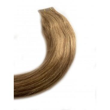 Clip-in rosyjskie - 12-średni ciepły blond- 40cm, 100gram