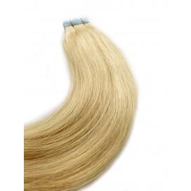 Clip-in rosyjskie - 613-bardzo jasny blond - 40cm, 100gram