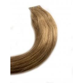 Clip-in rosyjskie - 12-ciepły chłodny blond - 55cm, 140gram