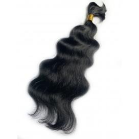 Włosy rosyjskie w kitce 55cm 100g - 1 - czarny