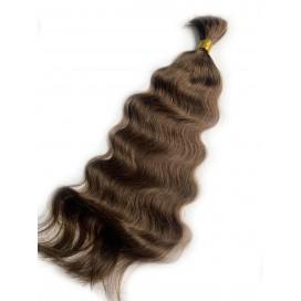 Włosy rosyjskie w kitce 55cm 100g -3 - ciemny brąz