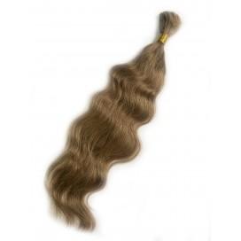 Włosy rosyjskie w kitce 55cm 100g - 8 - średni chłodny blond