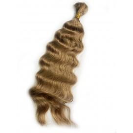 Włosy rosyjskie w kitce 55cm 100g - 12 - średni ciepły blond