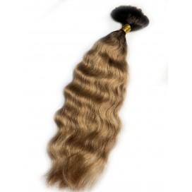 Włosy rosyjskie w kitce 55cm 100g OMBRE - 3/12 - ciemny brąz/średni ciepły blond